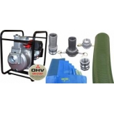 "SEM-100X 4"" PETROL KOSHIN PUMP EMERGENCY FLOOD KIT - READY TO GO!!"